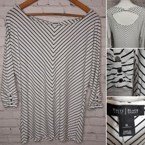 WHBM striped tunic size M